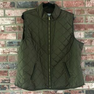 Old Navy Quilted Zip Up Vest